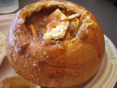 ビーフチリのスープ