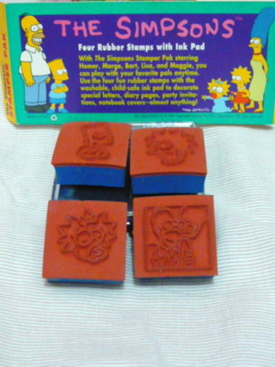 複製 -Simpsons Stamps Set back