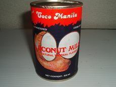 ココナッツミルク缶