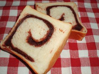 ぐるぐる あんこ食パン