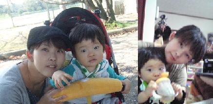YOSHIくん撮影 AKIとママ