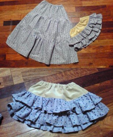 おそろいスカート
