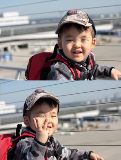 パパと空港へ②