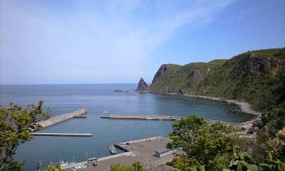 綺麗な景色の漁港