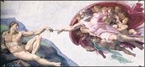 アダムの創造ミケランジェロ