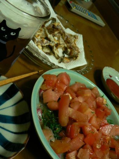 2009年6月6日真鯛のカルパッチョ&真鯛の皮焼き