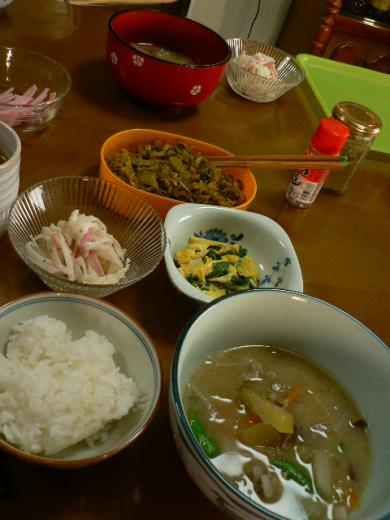 2009年5月8日夕食