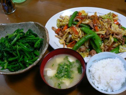 2009年3月9日夕食