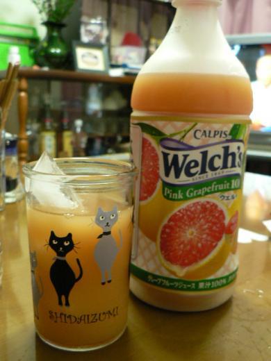 焼酎のレッドグレープフルーツジュース