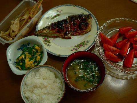 2009年5月18日夕食