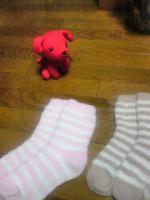 モコモコ靴下