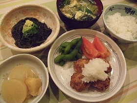 鯖の水煮とお豆腐の落とし揚げ