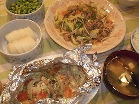 鮭のホイルチーズ焼き