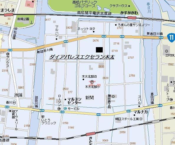 ダイアパレスエクセラン木太地図new