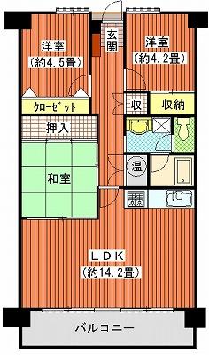 アイランドコート新宇多津704間取り図