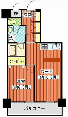 ダイアパレス栗林203間取り図カスタムモデル