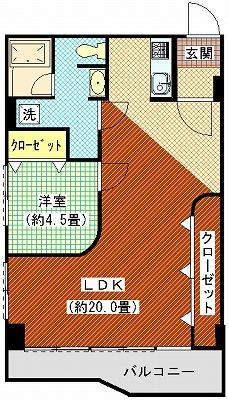 勝賀ハイツ408間取り図