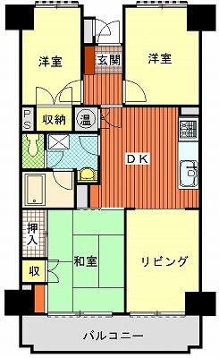 香西グランドマンション604間取り図