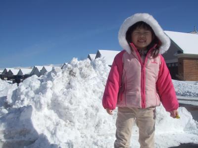 100cmの雪山