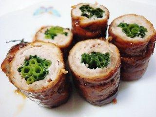 青ネギの豚肉巻き(照り焼き)
