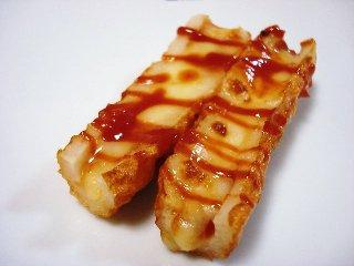 ちくわのケチャチーズ焼き