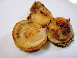 ベビーホタテの味噌漬け焼き