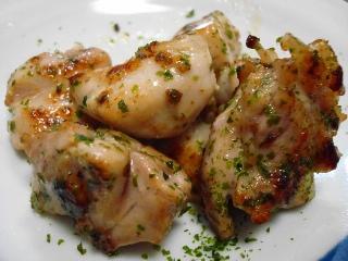 鶏肉の青のり炒め