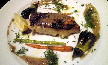 真鯛と野菜の炭火焼