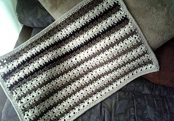 手編みマット