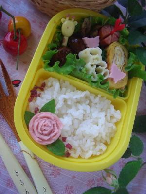 お魚ソーセージ薔薇