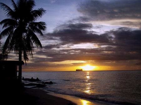 サイパン マイクロビーチの夕日