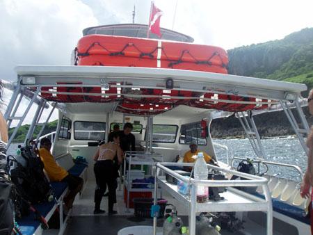 サイパン ボートダイビング
