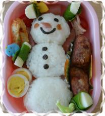 雪だるま弁当1