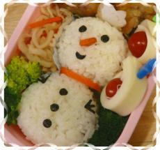 雪だるま弁当2
