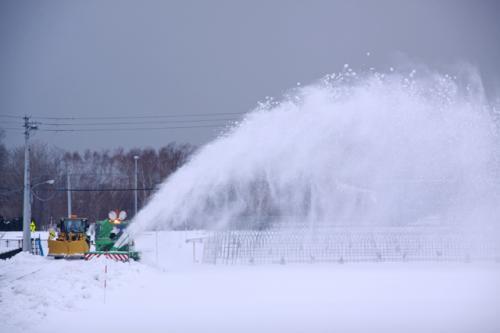 雪・・・ぶっ飛び。