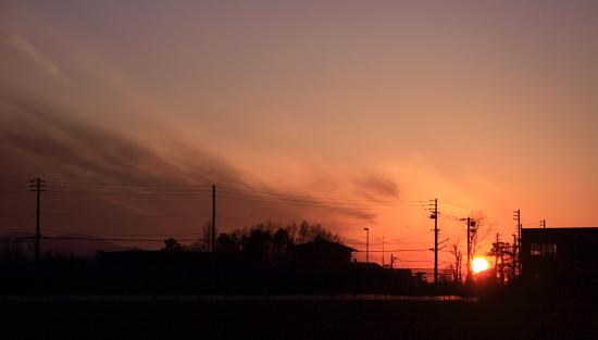 夕日を眺める余裕♪