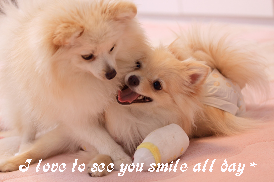 君たちの笑顔は最高だわ♪