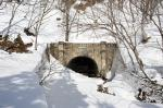 二ツ小屋隧道冬景色