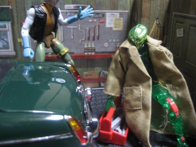 ガレージの二人