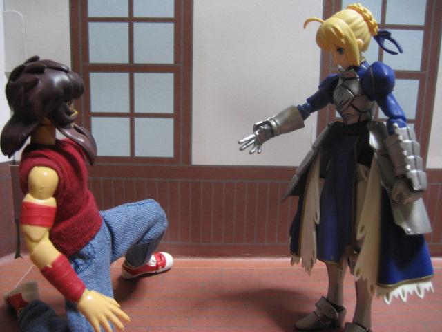 「問おう、貴方が私のマスターか?」