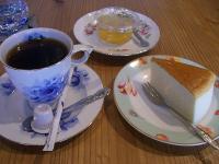 コーヒー、チーズケーキ、ゼリー