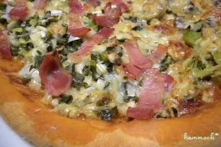 ねぎ&照り焼きチキンのピザ