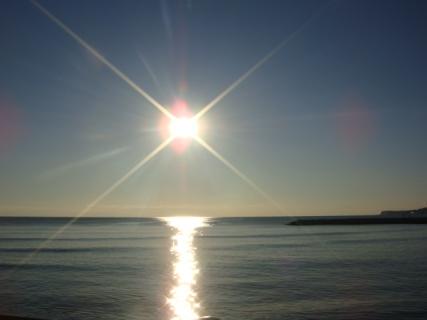 about sun set