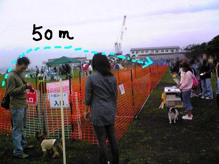 50m走ります♪