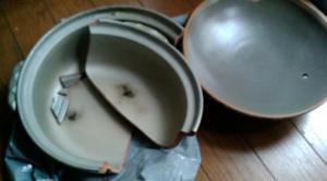 われた土鍋