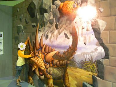 トリックアート恐竜