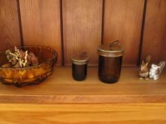 茶色の小瓶
