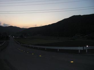 小川町の夕暮れ