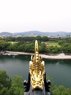 岡山城天守より (2)