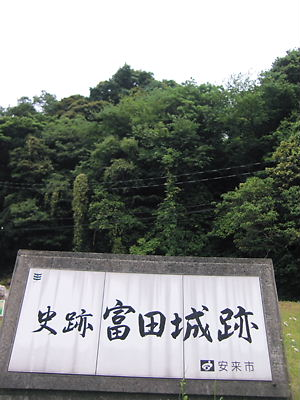 富田城遠景